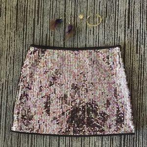 Express sequined disco mini skirt, BNWT